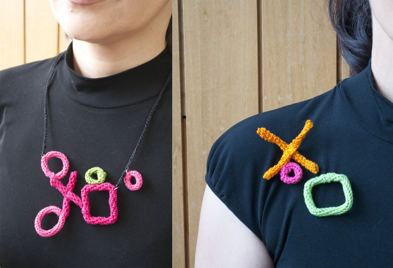 Crochet Jewellery. Photo courtesy Florie Salnot