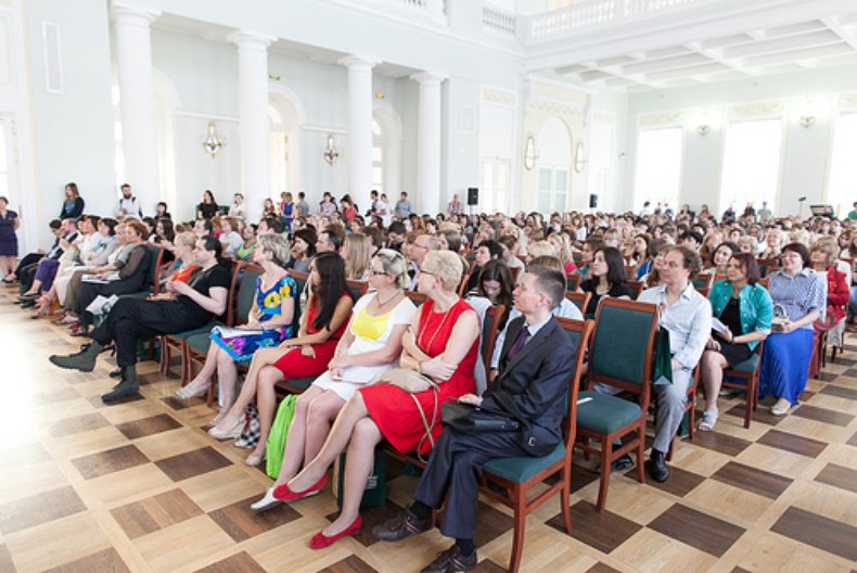 The audience at the RUssian State Library for the 'Literature, history and mythology' discussion