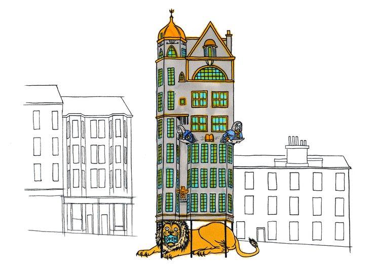 A Brisk Walk: Buildings at Risk in Glasgow, Walking Heads  © Rae-Yen Song