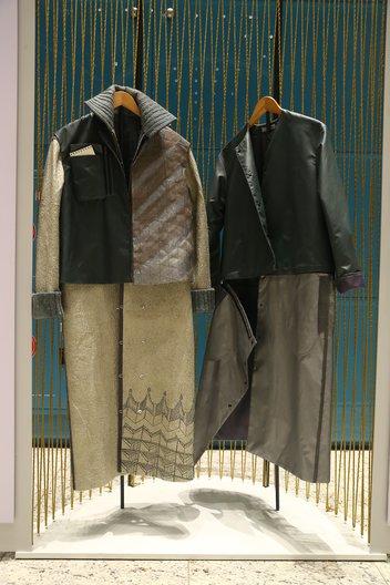 Transformer coat by Diana Kassym and Aizhan Bekkulova Photographer: Roman Akhmetov