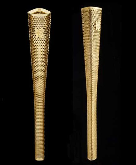 Olympic Torch. Photo courtesy: Barber Osgerby