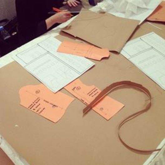 University of Brighton pattern cutting workshop in Riyadh. Photo: Noor Kuraidah