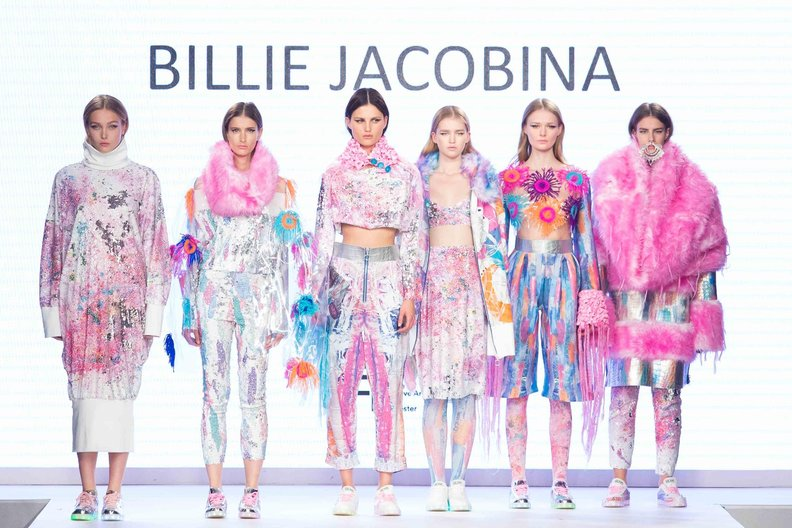 Billie Jacobina at Graduate Fashion Week Photograph by Simon Armstrong