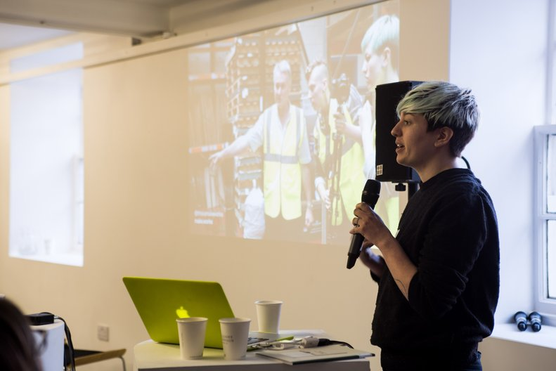 Fi Scott at Maker Assembly Edinburgh © Kat Gollock