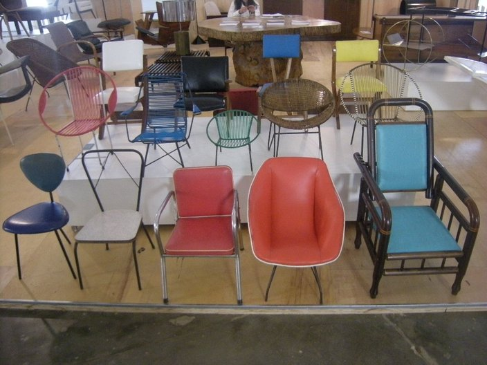 Vintage children's chairs at Design Sao Paulo