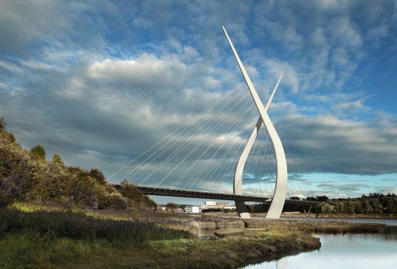 new Weir bridge by Techniker