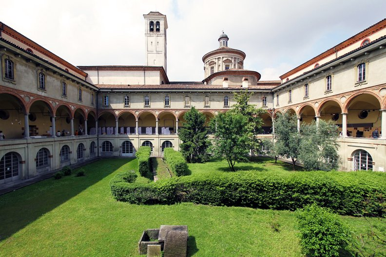 Cloisters at the Museum of Science and Technology Milan. Image courtesy of Tom Dixon