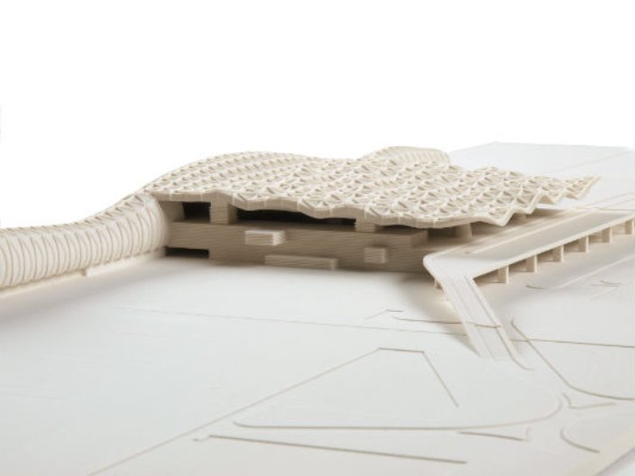 Scale Model New Passenger Terminal Zagreb Airport. Image courtesy of the architects.