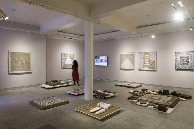 The installation 'Made Out Of Place' at the Indian Ceramics Triennale, Jawahar Kala Kendra