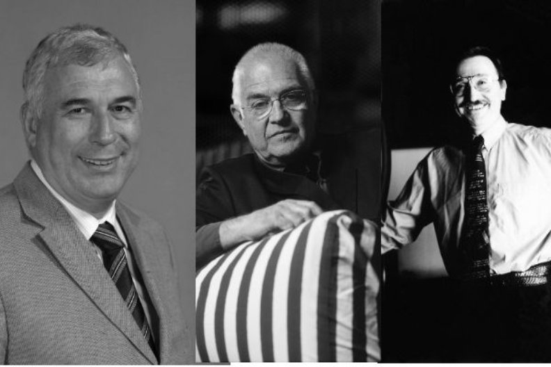 Jure Radic, Branko Kincl and Velimer Neidhardt, the Croatian architects who designed the New Terminal for Zagreb Airport.
