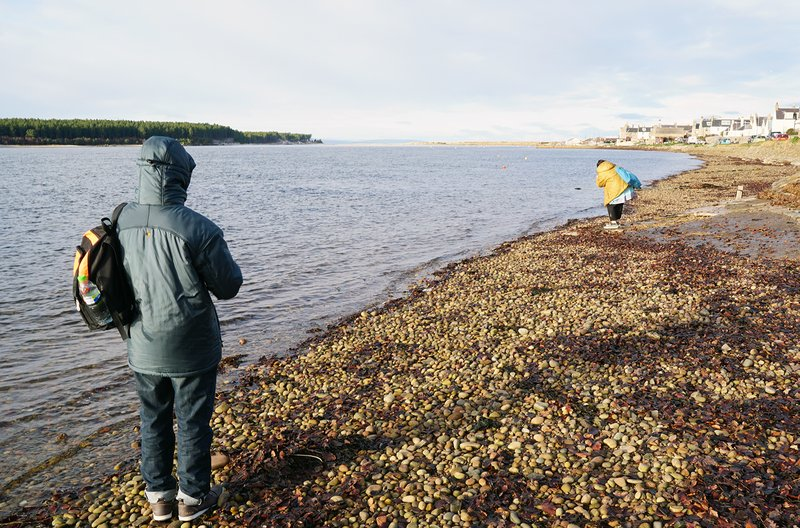 Visit to the seaside in Findhorn