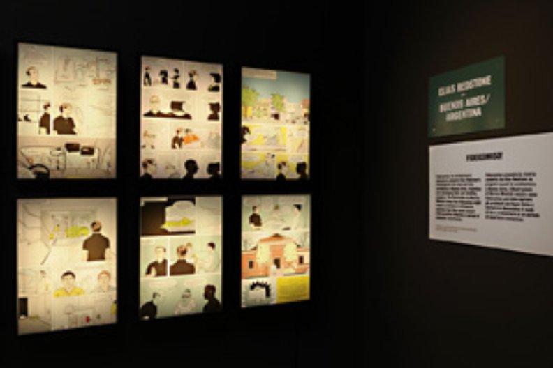 Elias Redstone exhibit. Photograph by Cristiano Corte