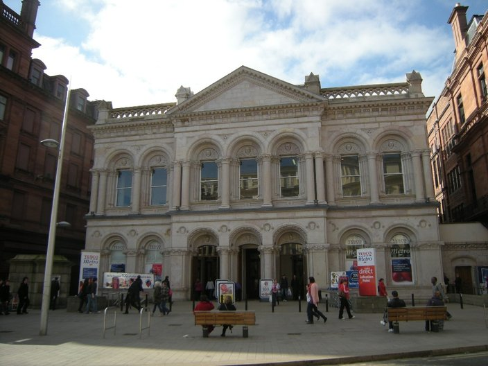 Tesco on Royal Avenue - housed in a Grade A listed former bank. Photo Vicky Richardson