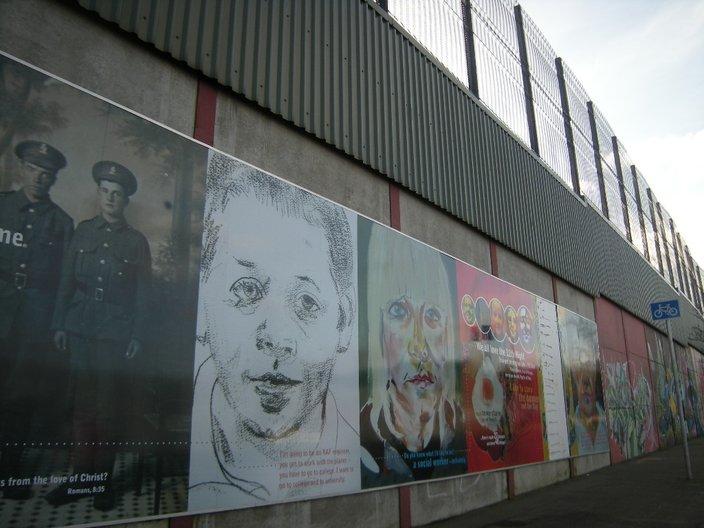 The Peace Line. Photo Vicky Richardson