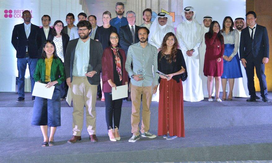 The winning team © British Council Muhammed Hammoud