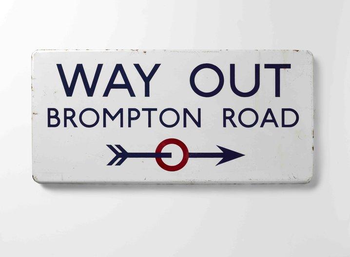 Edward Johnston's Way Out, Brompton Road (1916) © Sara Morris