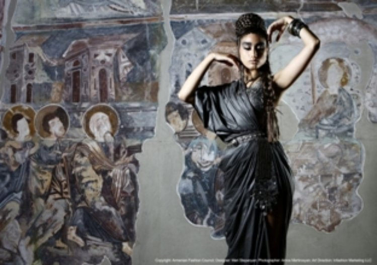 Fashion shoot for Meri S at the National Gallery of Art, Yerevan. Photo: Arnos ©Armenian Fashion Council