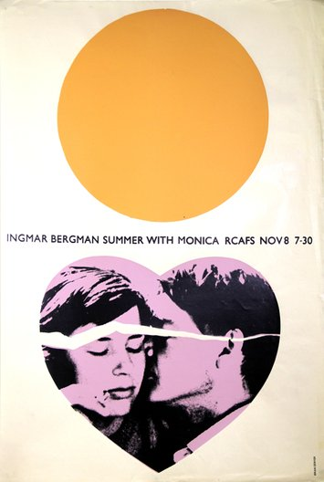 Brian Denyer, RCA Film Society Poster for Summer with Monica, 1964
