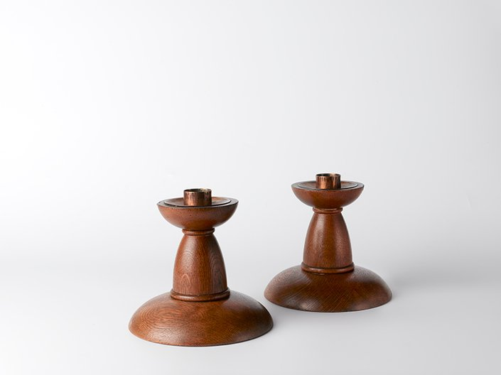 Candelsticks by George Maxwell  © DITCHLING MUSEUM