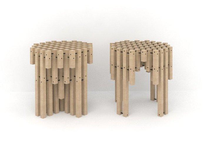 Gestalt His & Her Stools by Plural Designs