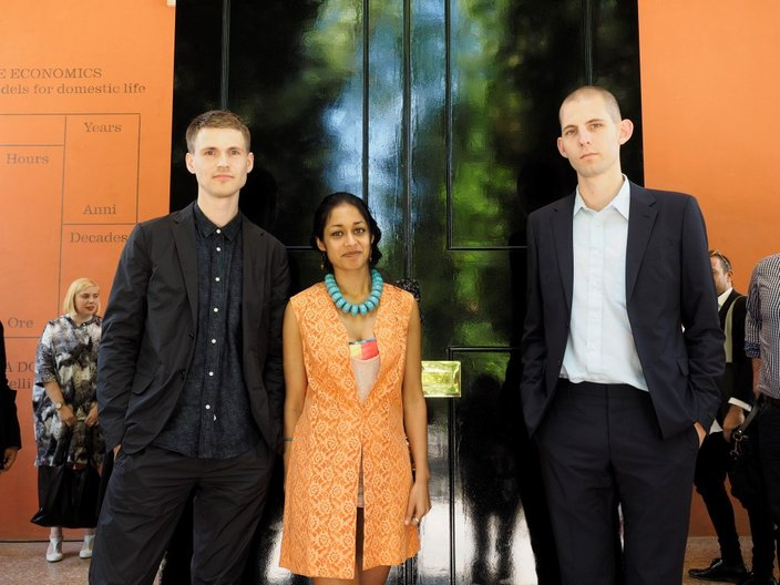 Home Economics curators Finn Williams, Shumi Bose and Jack Self © Cristiano Corte