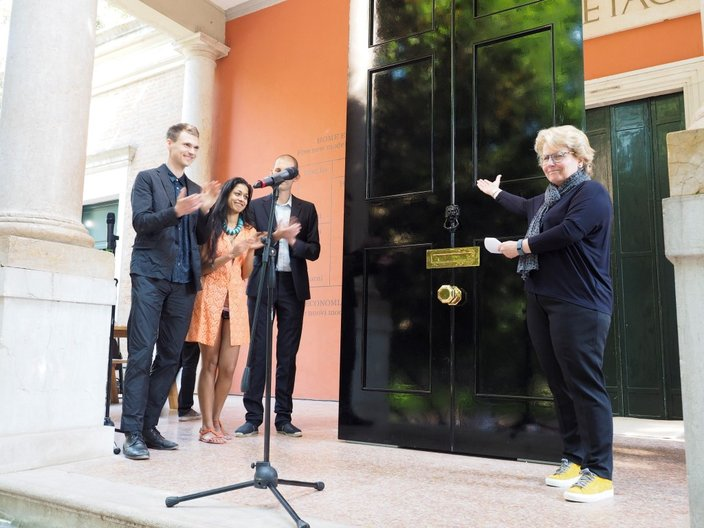 Sandi Toksvig OBE opening Home Economics at the British Pavilion © Cristiano Corte