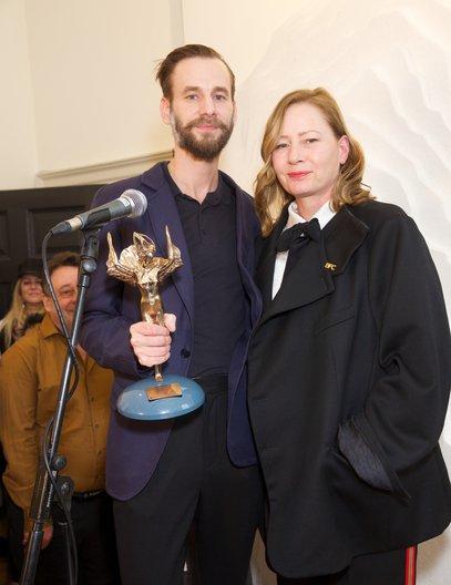 Winner of Country Award: Czech Republic presented to curator Pavel Ivančic © Piers Allardyce