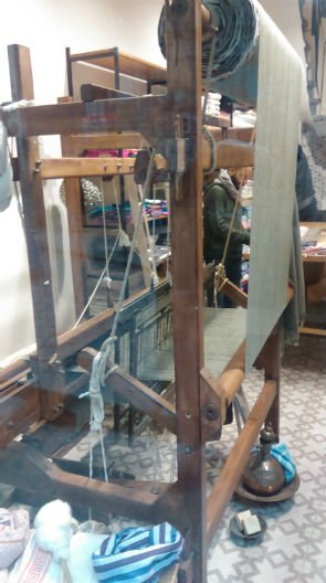 Weaving loom in Galata textiles shop Niamh Tuft
