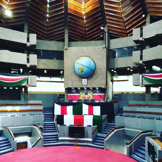 Inside the Kenyatta International Conference Centre  © Owen Wainhouse