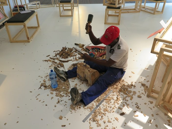 Making at Guild Design Fair, Cape Town © Heath Nash