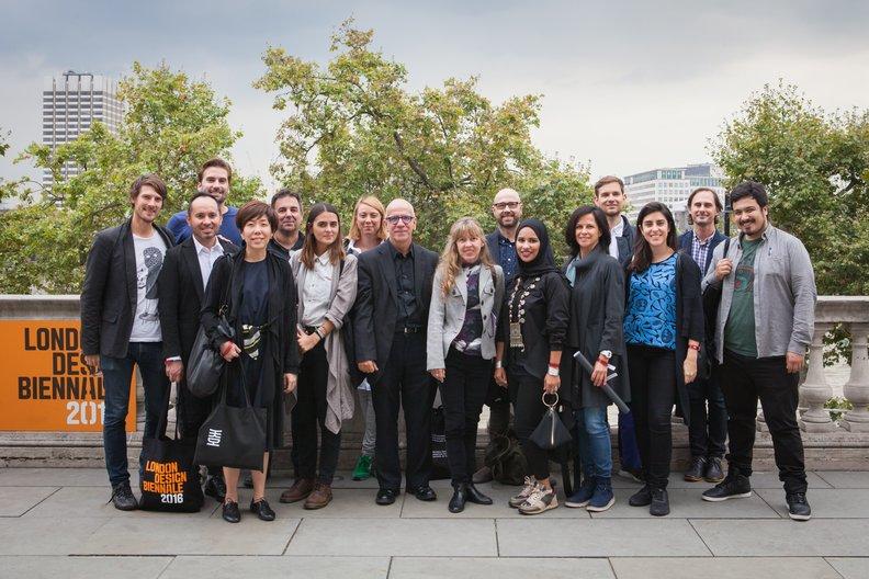 Design Connections Delegates at London Design Biennale Lucia Scerankova