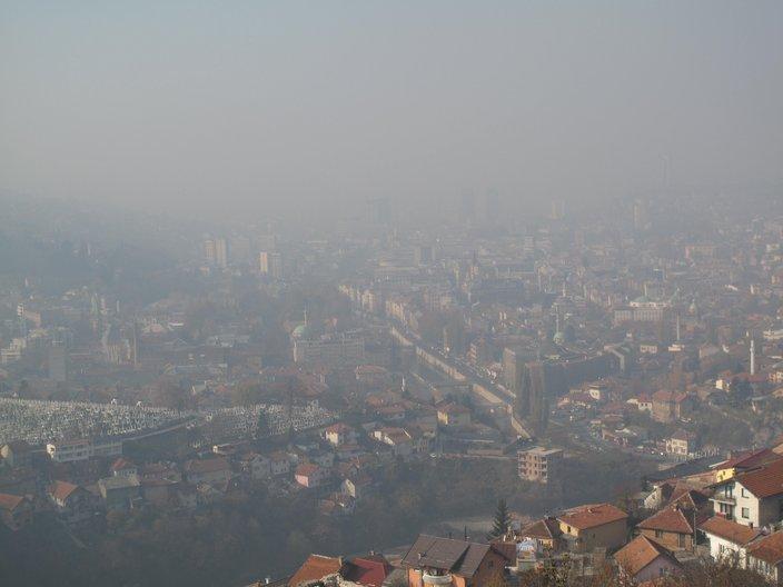 A misty Sarajevo