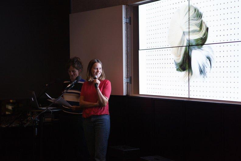 Isabel & Helen at 10x10 Lucia Scernankova