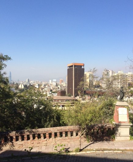 View of central Santiago from Cerro Santa Lucía photo by João Guarantani