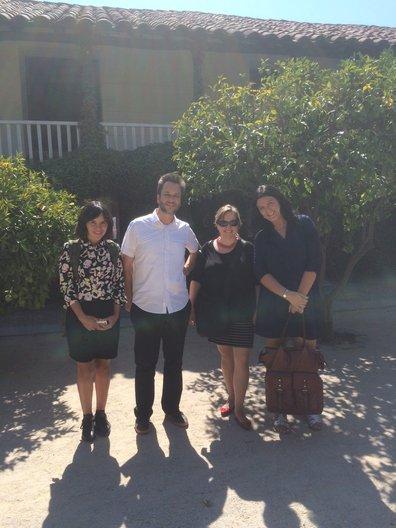 Tamara Poblete, José Allard,  Alejandra Szczepaniak and Virginia Di Paola at Universidad Catolica photo by João Guarantani