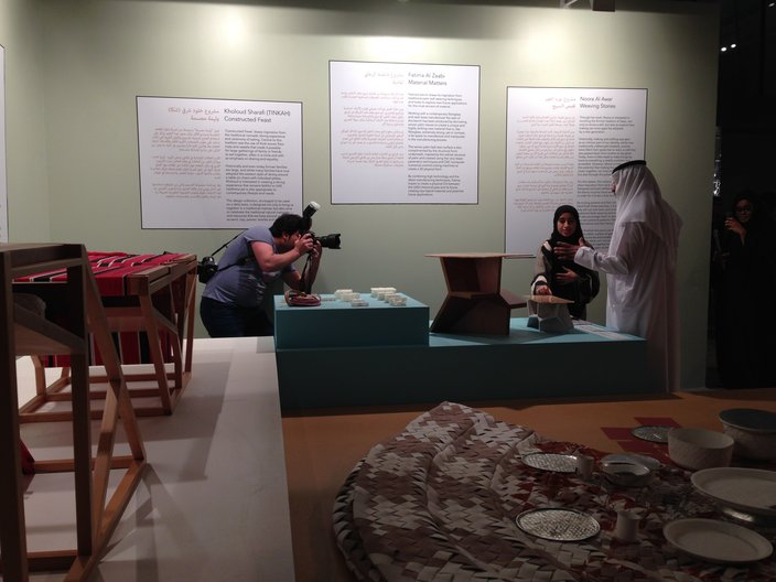 A visit to the Future Nomads exhibition by the Sheikh  Courtesy Faculty