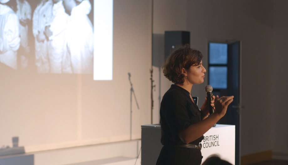 Nelly Ben Hayoun presenting  Alice Masters