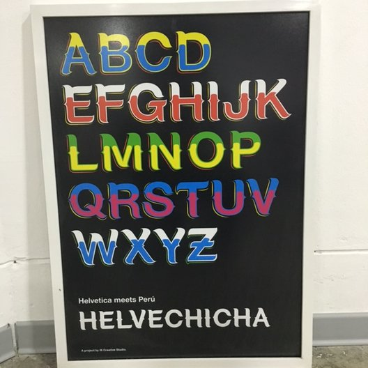 IS Studio's brilliant typographic mash-up: Helvechica photo by João Guarantani