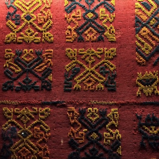 Pre-Columbian textiles at Museo Amano photo by João Guarantani