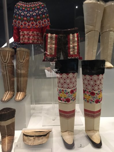 A selection of shoes from the Arctic regions at Bata Shoe Museum João Guarantani