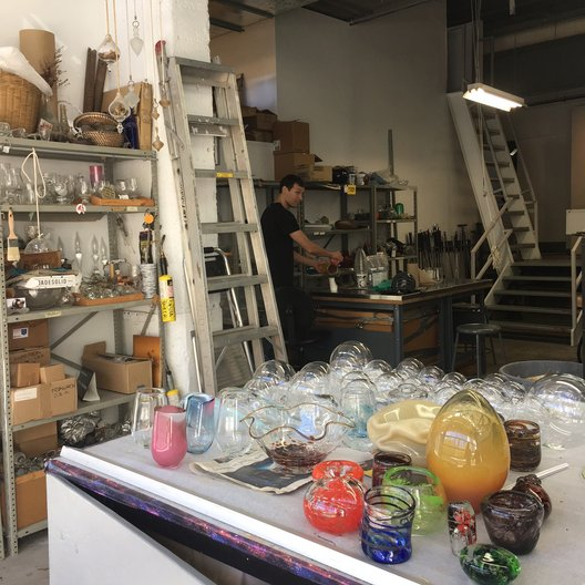 Glass making studio at the Harbourfront Centre João Guarantani