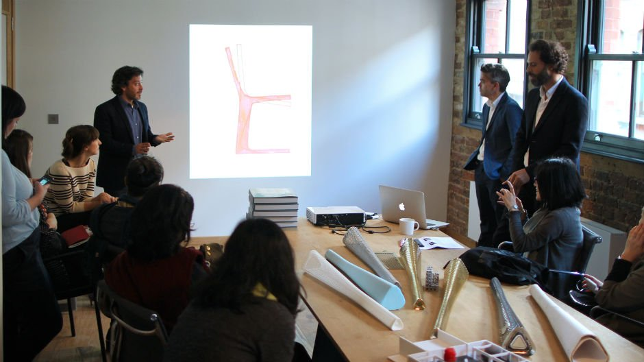 Design Connections delegates at Barber Osgerby studio, 2013. Alice Masters