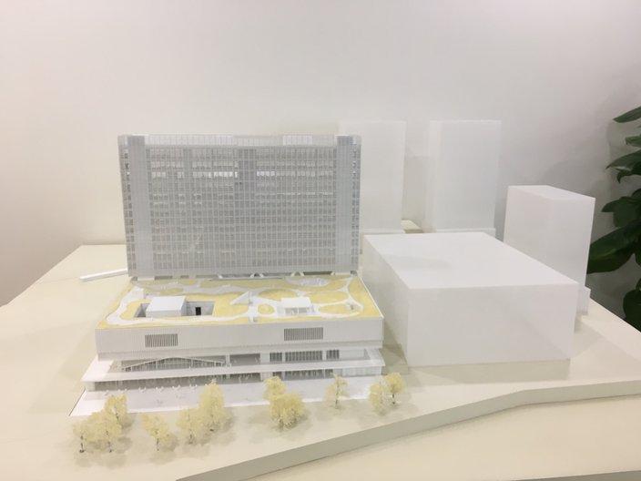 Architectural model of M+ by Herzog & de Meuron Photo by João Guarantani