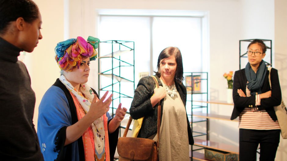 Design Connections group on visit to Aram Gallery, 2013. Alice Masters