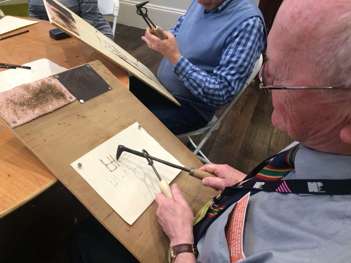 Pyrography workshop in Hull with Yujin Kim  Photograph courtesy Sujan Park