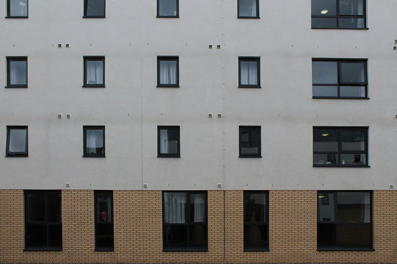 Small Windows in Beaver Bank Place, Edinburgh; compliant with requirements of BS8213. Photograph by Liam Ross