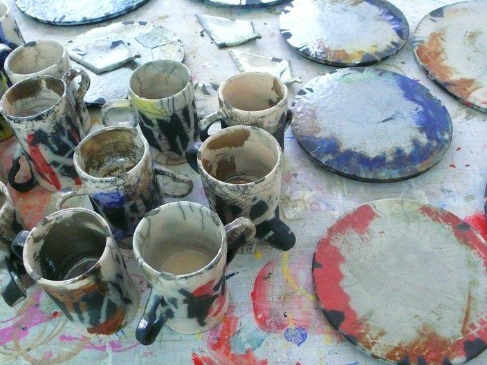 Ceramics for the café by Linda Brothwell  © Linda Brothwell