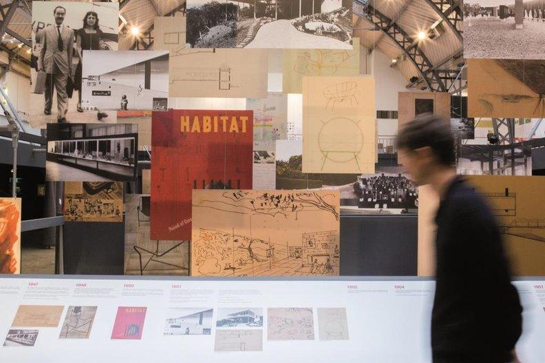 Lina Bo Bardi: Together; installation view, Pavillon de l'Arsenal, Paris Pavillon de l'Arsenal