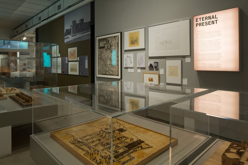Louis Kahn exhibition shots Photograph by Luke Hayes