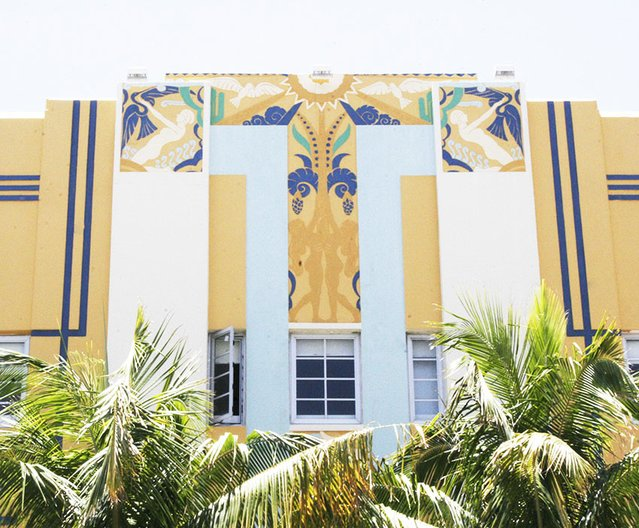 Miami Seaside Moderne architecture, lower mid beach, Miami Beach, USA © Jenny Steele, 2017